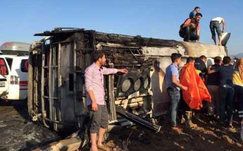 Подрыв полицейского автобуса: 6 погибших