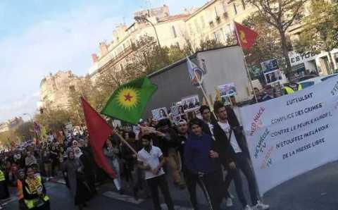 Курдские митинги в Стамбуле, Париже, Кёльне и Москве