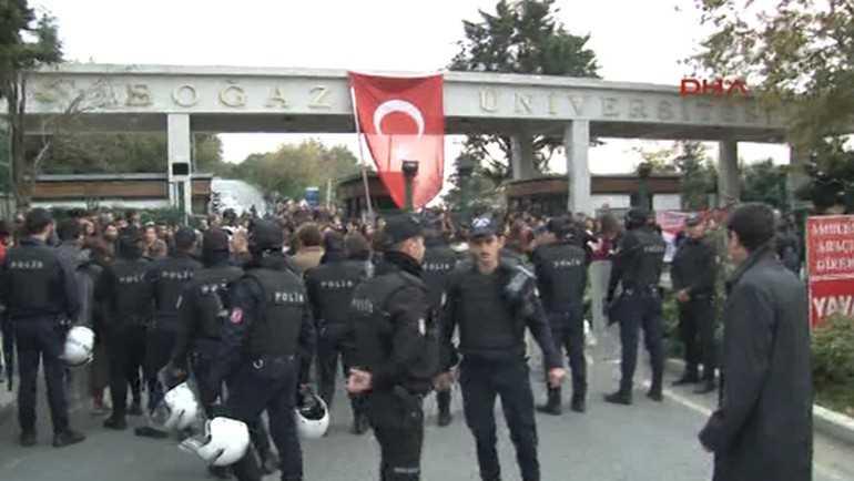 Полиция разогнала протест в Босфорском университете