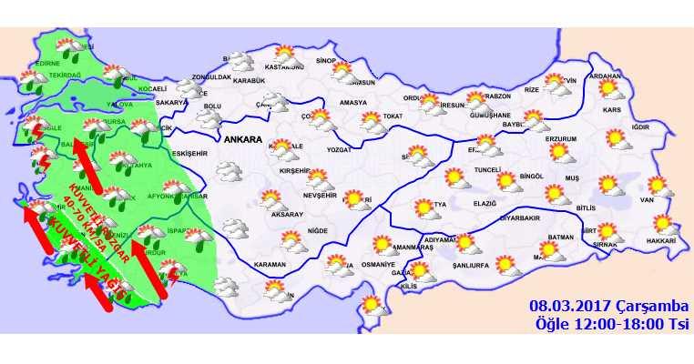 Ураган и грозы от Измира до Антальи