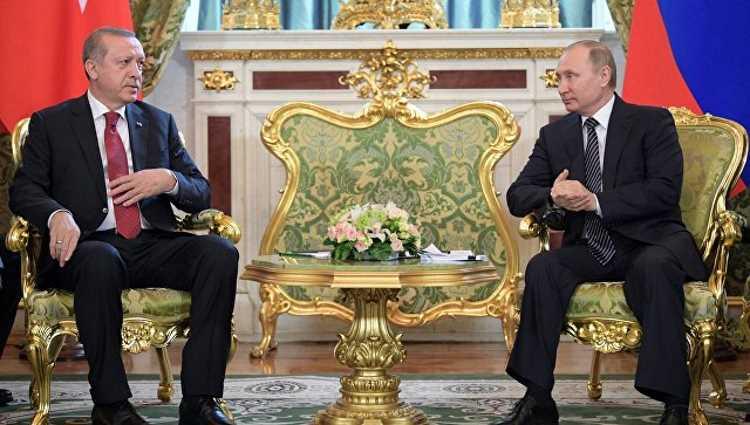 Эрдоган обсудил с Путиным ситуацию в Катаре