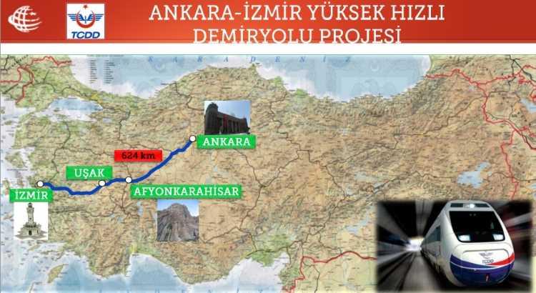 Из Анкары в Измир на скоростном поезде не раньше 2019 года
