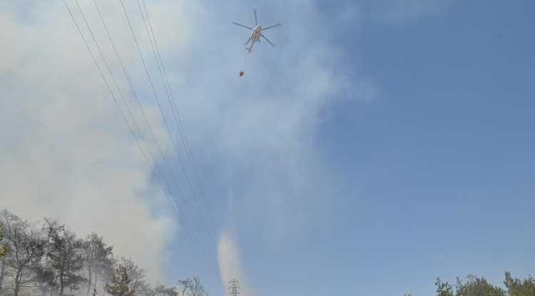 Пожарный вертолет потерпел крушение в Измире