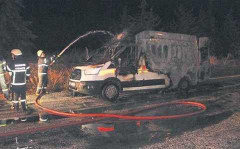 Пациент сгорел заживо в машине скорой помощи