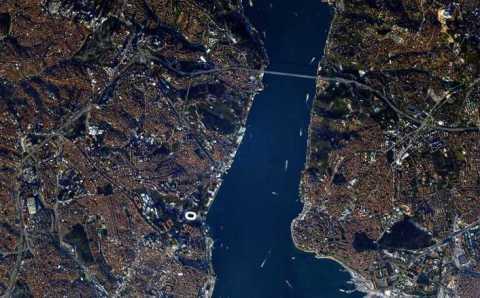 Стамбул с борта МКС глазами российского космонавта