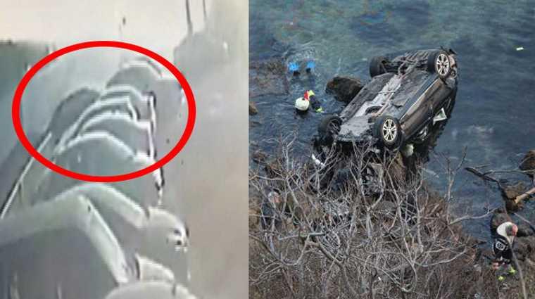 Автомобиль упал со 150-метровой высоты в море в Стамбуле