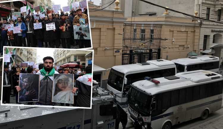 Консульство РФ в Стамбуле было заблокировано протестом