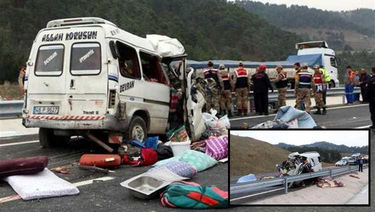 8 человек погибли в ДТП в Кахраманмараше