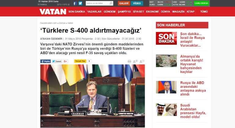 «Мы не позволим туркам приобрести С-400»