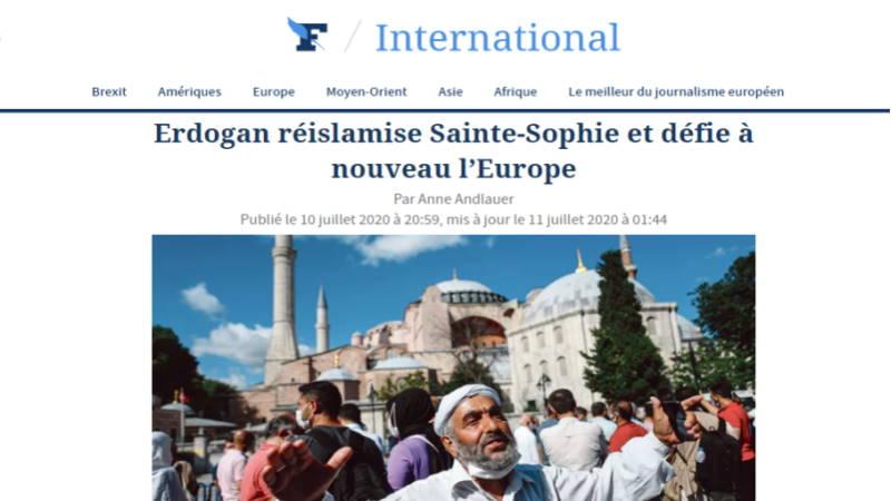 Эрдоган исламизирует Айя-Софию и бросает вызов Европе