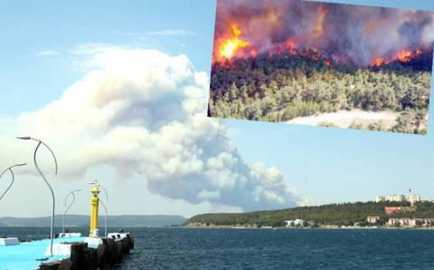 Турция перекрыла Дарданеллы из-за сильного пожара