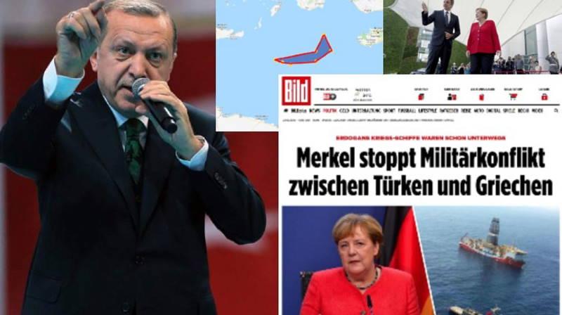 Bild: Меркель остановила войну между Турцией и Грецией