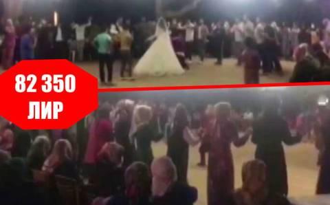Свадебных гостей оштрафовали на 82 350 лир