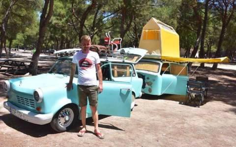 Ретро-караван для семейного отдыха