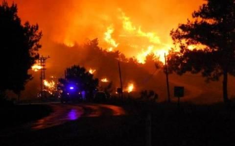 По факту пожара в Измире задержан 1 человек