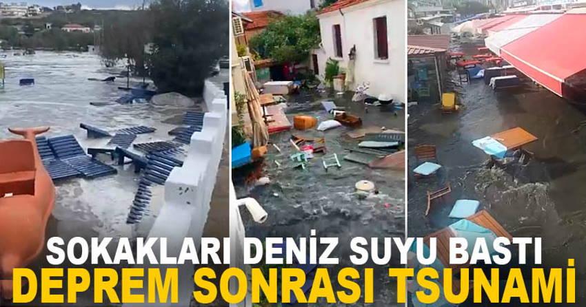 Мощная волна накрыла прибрежный город в Измире