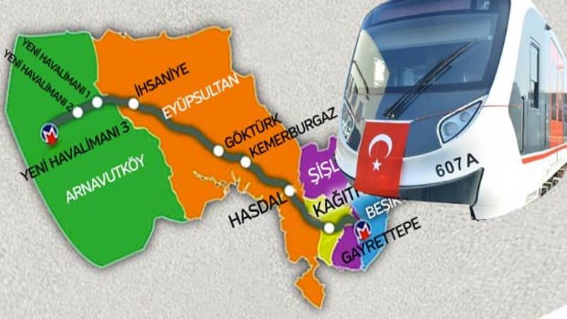 Самое быстрое метро Турции стартует в апреле 2021 года