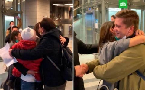 Российские журналисты вернулись домой
