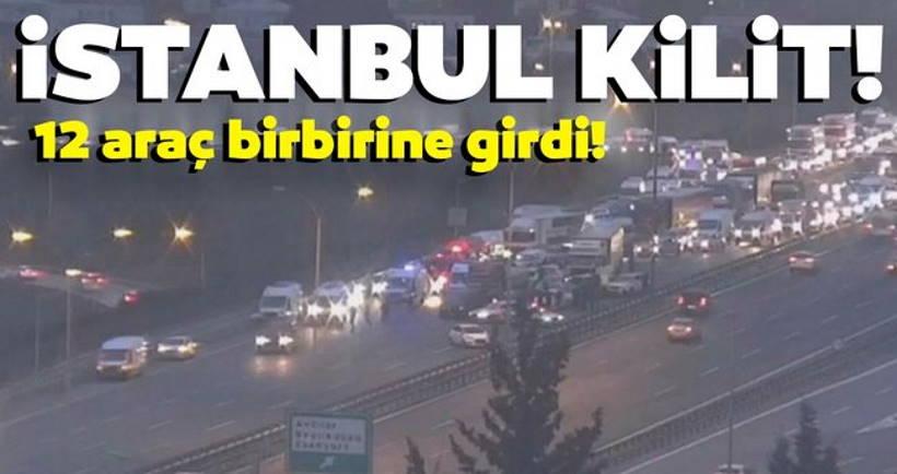 ДТП в Стамбуле: 12 машин и огромная пробка