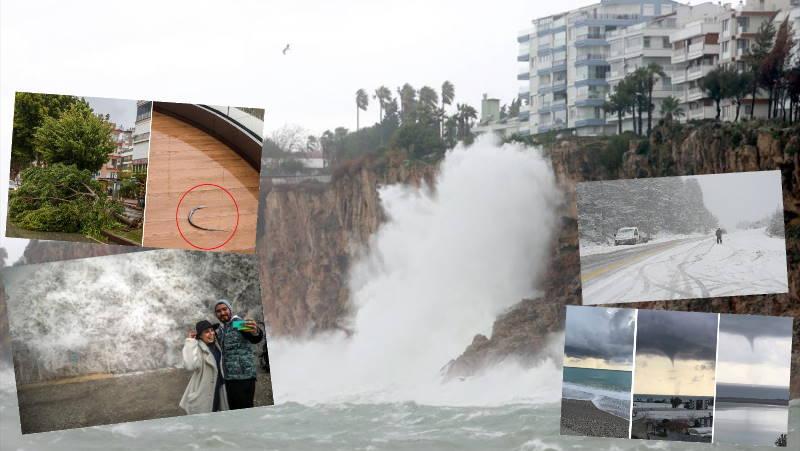 Погода в Анталии: ураган, снег, смерч и наводнение