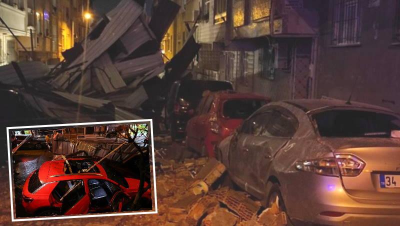 Ураган в Стамбуле: летающие крыши и отмененные паромы