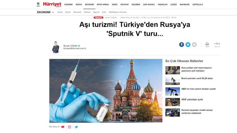 Тур «Спутник V» из Турции в Россию…