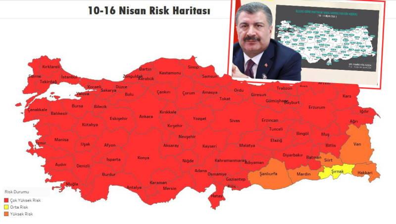 В Турции осталась одна желтая провинция