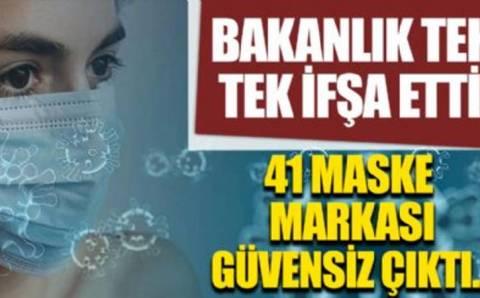 Министерство признало 41 марку масок небезопасными