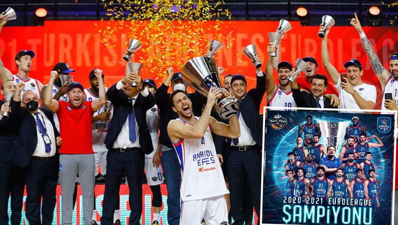 Анадолу Эфес впервые стал победителем Евролиги