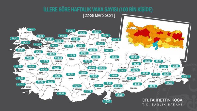 Стамбул перешел в оранжевую зону, Измир – в желтую