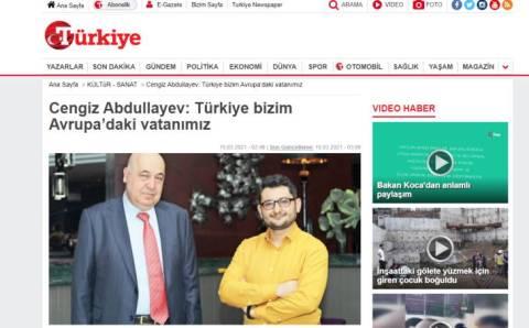 Чингиз Абдуллаев: Турция — наша родина в Европе