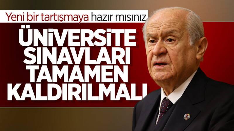 Бахчели призвал отменить экзамены в вузы Турции
