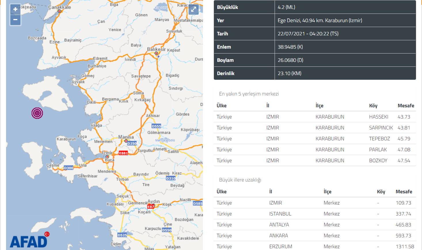 Измир пережил ночью серию землетрясений