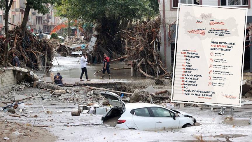 Стихия на севере Турции унесла 38 жизней, 284 человека пострадали