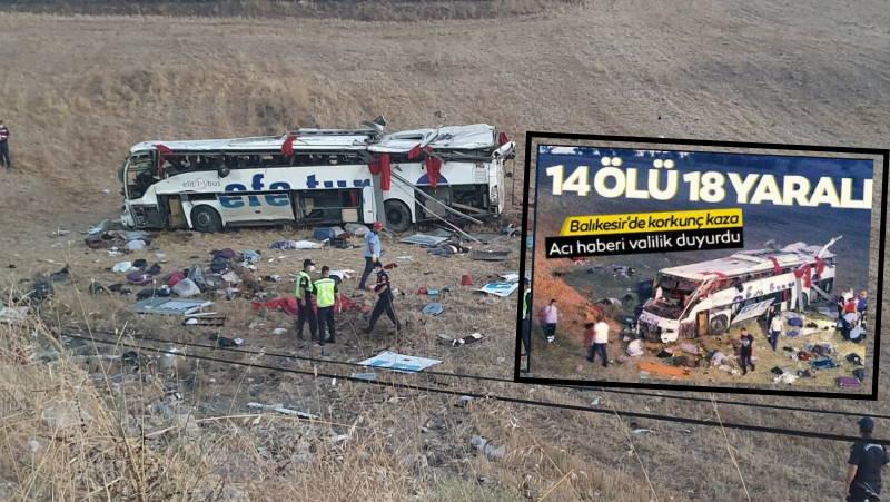 ДТП с автобусом на западе Турции: 14 погибших, 18 пострадавших