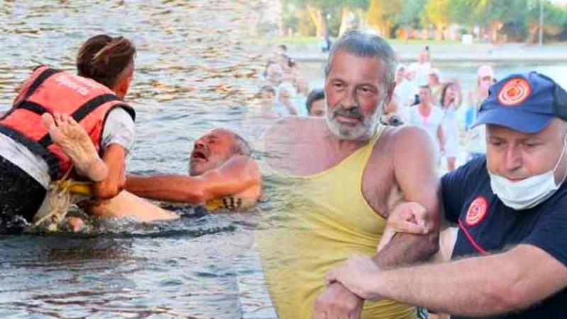 Спасателям и жандармерии пришлось силой вытягивать туриста из озера