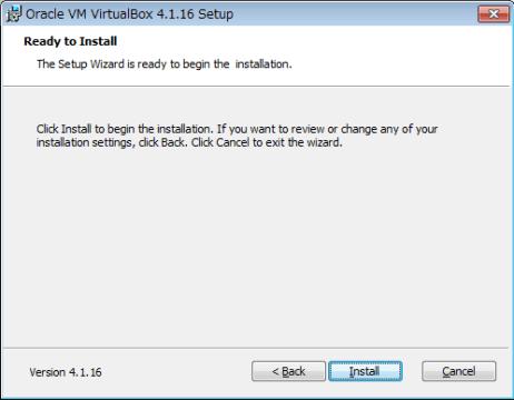 VirtualBox インストール05
