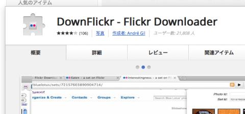 DownFlickr - Flickr Downloader - Chrome ウェブストア