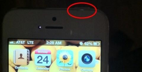 iPhone5 光が漏れる