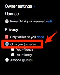 Owner settings