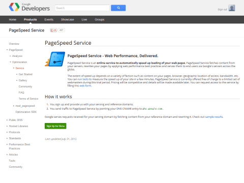 PageSpeed Service - Google Developers