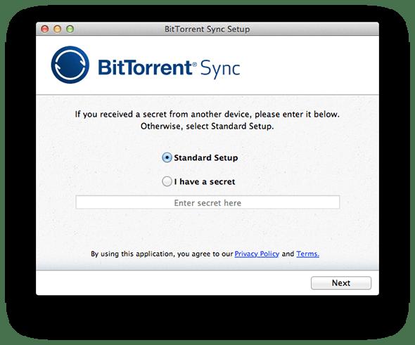 BitTorrent Syncセットアップ