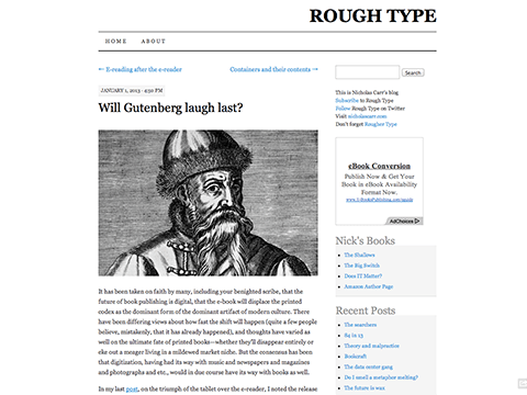 Will Gutenberg laugh last? - ROUGH TYPE