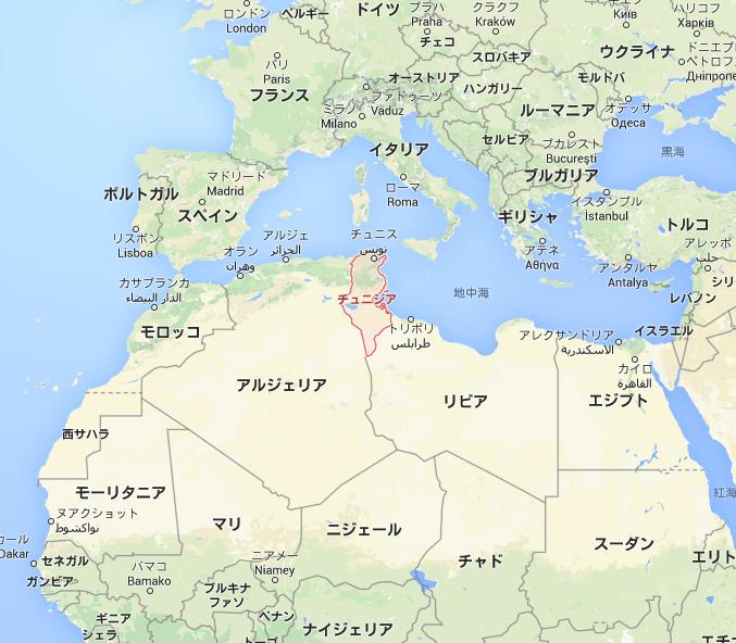 チュニジア – Google マップ
