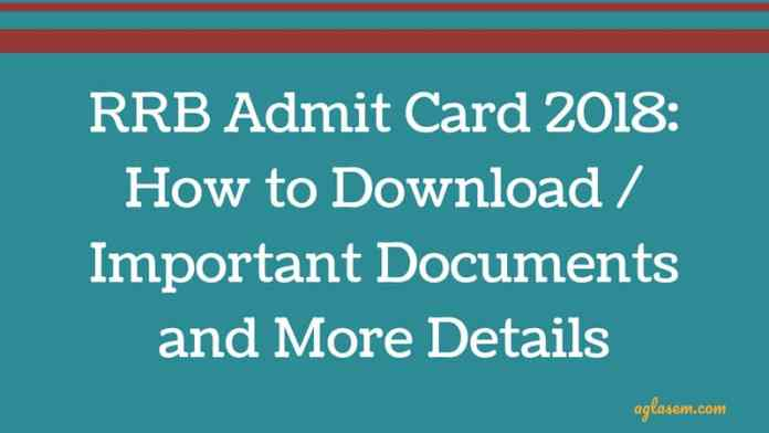 RRB Admit Card 2018