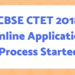 CBSE CTET 2018 Online Application