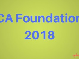 CA Foundation 2018