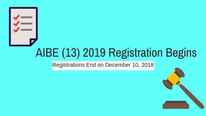 AIBE 2019 Registration Started