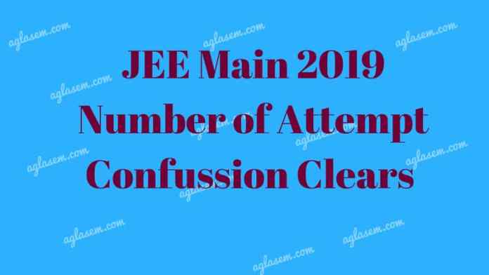 JEE Main 2019 Attempts