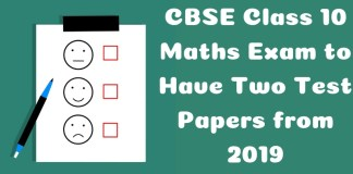 CBSE Class 10 Maths Exam to Have Two Test Papers